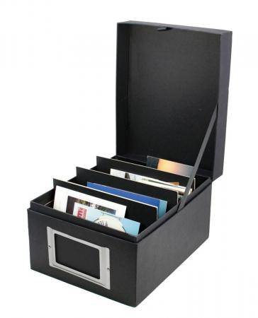 Cutie pentru carti postale, fotografii A6 ori 162 x 130 mm - Black Edition-5679 [1]