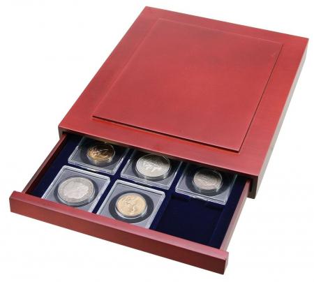Cutie din lemn, Nova Exquisite, pentru 12 monede in cartonase de 50 mm-6850 [1]