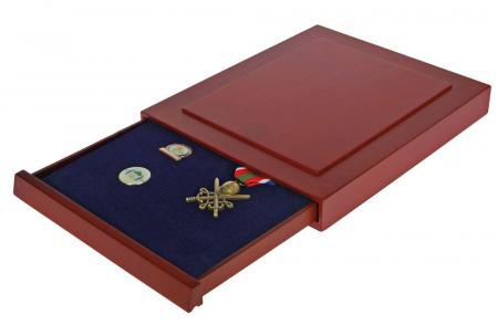 Cutie din lemn, Nova Exquisite, pentru pana la 40 pini, insigne de rever-6860 [0]