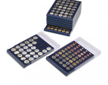 Tava cu carcasa acrilica si insertie in catifea albastra cu 6 spatii de 70 x 62 mm - Nova-Standard-6370 [0]