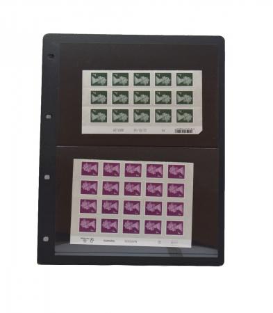 """Foaie pentru timbre cu 2 buzunare """"Clipfix"""" - 10 buc. [1]"""