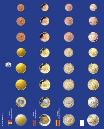 Pagini pentru seturi de monede euro in capsule - 6 buc0