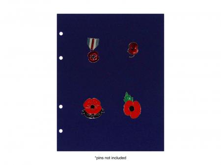 Panouri velur pini insigne medalii pentru albumul 78602