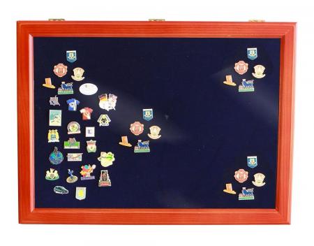 Vitrina expunere medalii, decoratii militare, pini, insigne de rever - XL-5998 [0]