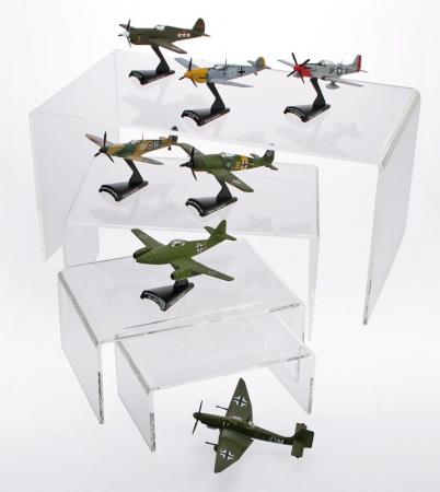 Pod de prezentare, figurine, avioane, machete auto, trenuri, sticla acrilica 85 x 190 x 125 mm-5291 [0]