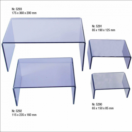 Pod de prezentare din sticla acrilica transparenta - 360 x 200 x 175 mm-5293 [2]