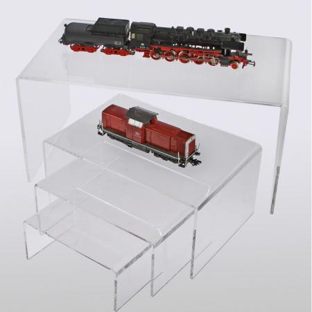 Pod de prezentare, figurine, avioane, machete auto, trenuri, sticla acrilica 85 x 190 x 125 mm-5291 [1]