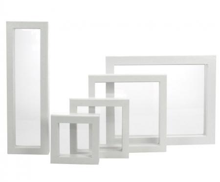 Rama Alba cu membrana de silicon cu efect 3D - 100 x 100 mm (interior)-4517 [1]