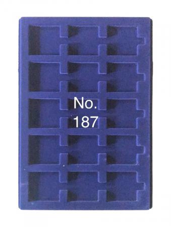 Tavi in catifea albastra pentru valize - 327 x 227 mm6