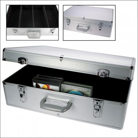 Valiza aluminiu pentru 144 CD-DVD in carcasa [0]
