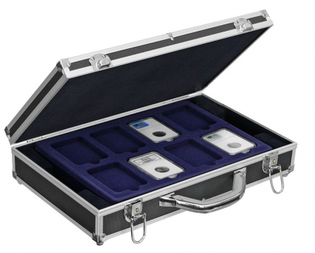 Valiza aluminiu pentru monede in capsule slabs - Black Diamond-290 [0]