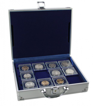 Valiza pentru monede cu 6 tavi pentru monede in capsule patrate-228 [0]