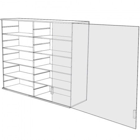Vitrina acrilica de prezentare 60 x 60 x 11cm - 5211 [2]