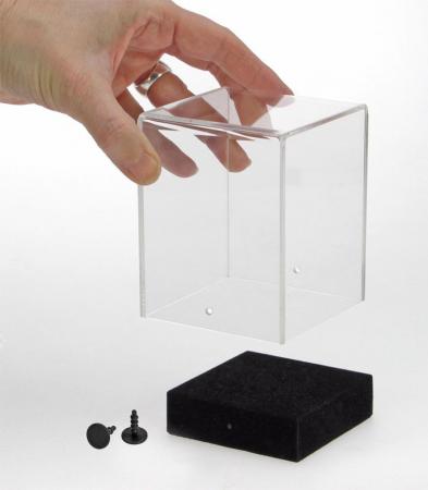 Vitrina-Cub 120 x 120 x 140 mm, prezentare figurine, machete, roci, minerale, ceasuri-5288 [3]