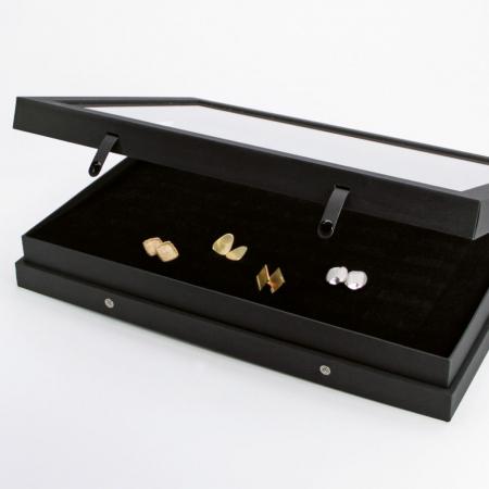 Vitrina Premium pentru 48 inele, butoni - Black Edition-5865 [3]