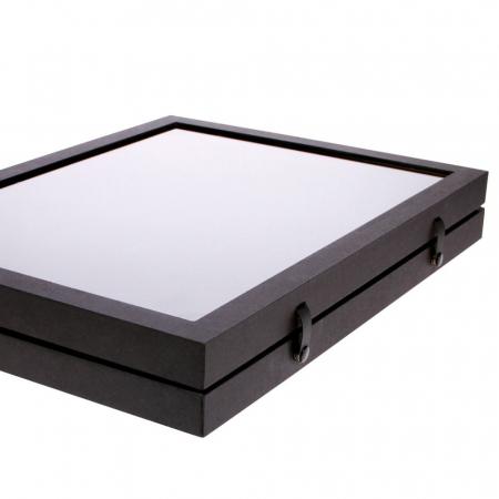 Vitrina Premium pentru miniaturi, lego, figurine, minerale, roci - 12 compartimente 87 x 90 mm - Black Edition-5675 [2]