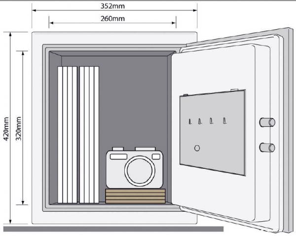 Seif certificat antifoc YFM 420 FG2 inchidere electronica 3