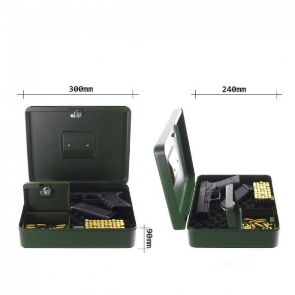Casete pistol Gunbox incuietoare cheie 2