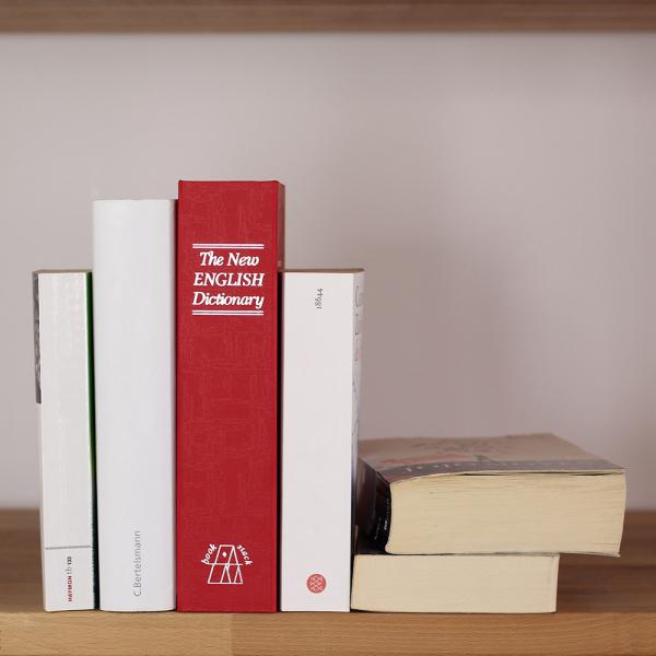 Caseta valori Bookcase rosu inchidere cheie 4