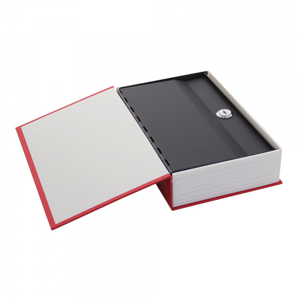 Caseta valori Bookcase rosu inchidere cheie 1