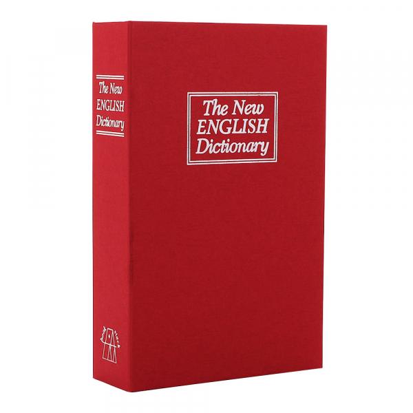 Caseta valori Bookcase rosu inchidere cheie 0