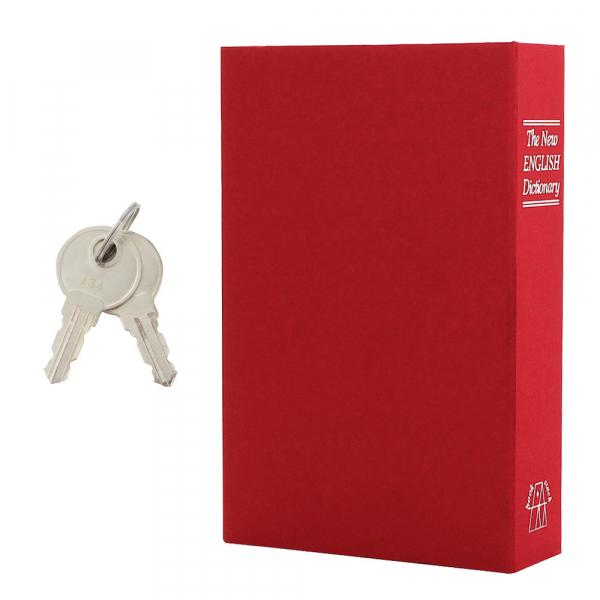 Caseta valori Bookcase rosu inchidere cheie 6