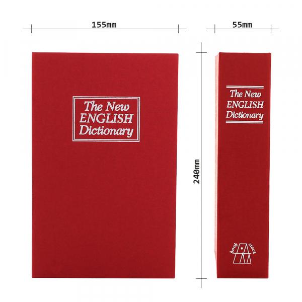 Caseta valori Bookcase rosu inchidere cheie 5