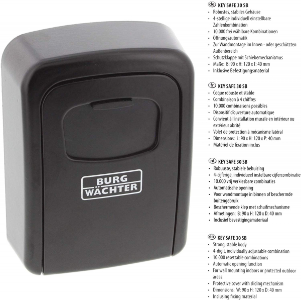 Cutie pentru chei Keysafe 30 SB inchidere cifru 6