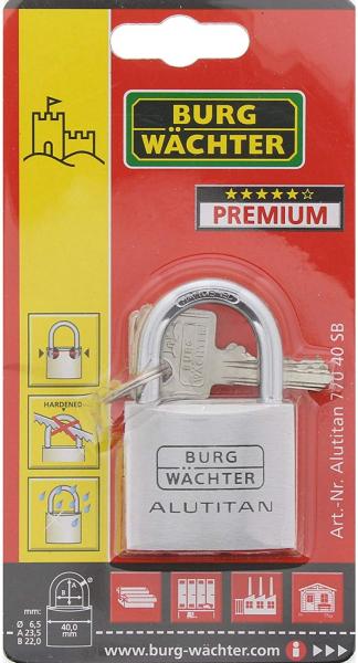 Lacat aluminiu Alutitan 770 40 SB inchidere cheie 6