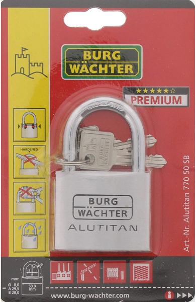 Lacat aluminiu Alutitan 770 50 SB inchidere cheie 5