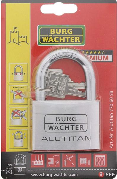 Lacat aluminiu Alutitan 770 60 SB inchidere cheie [6]