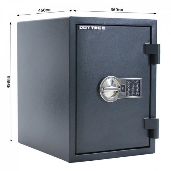 Seif certificat antiefractie antifoc Fire Hero 50 inchidere electronica 5