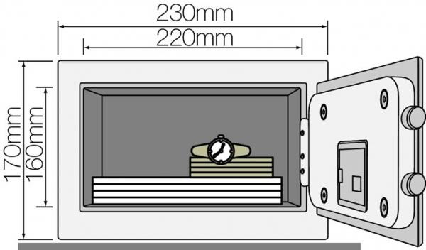 Seif YSV 170 DB1 B inchidere electronica 1