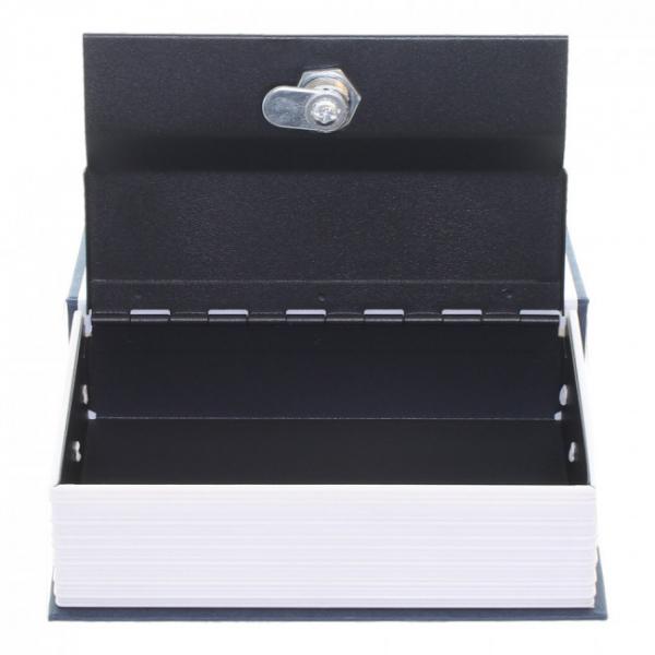 Caseta valori Bookcase albastru inchidere cheie 2
