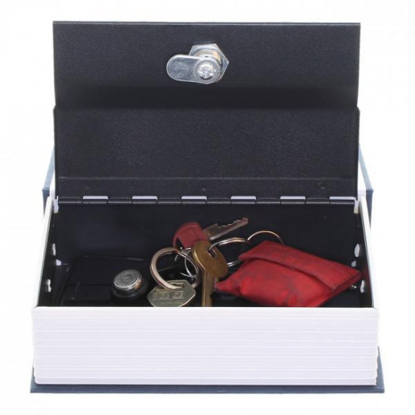 Caseta valori Bookcase albastru inchidere cheie 3
