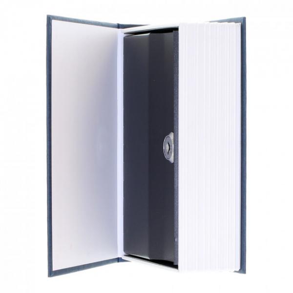 Caseta valori Bookcase albastru inchidere cheie 4