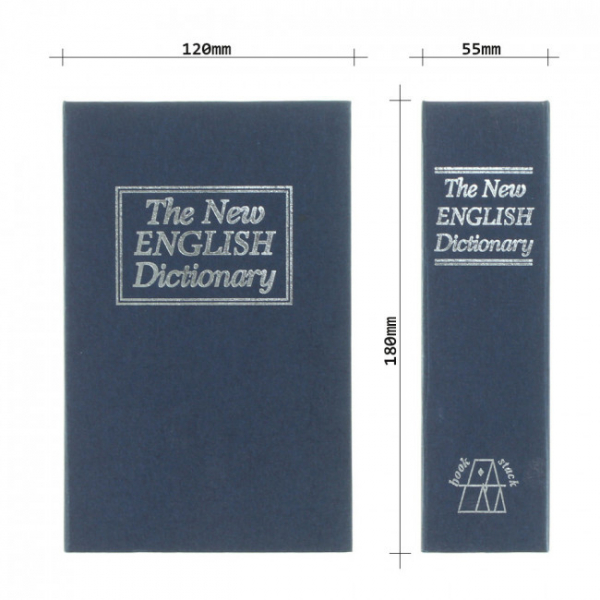 Caseta valori Bookcase albastru inchidere cheie 6