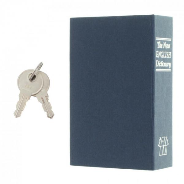 Caseta valori Bookcase albastru inchidere cheie 5