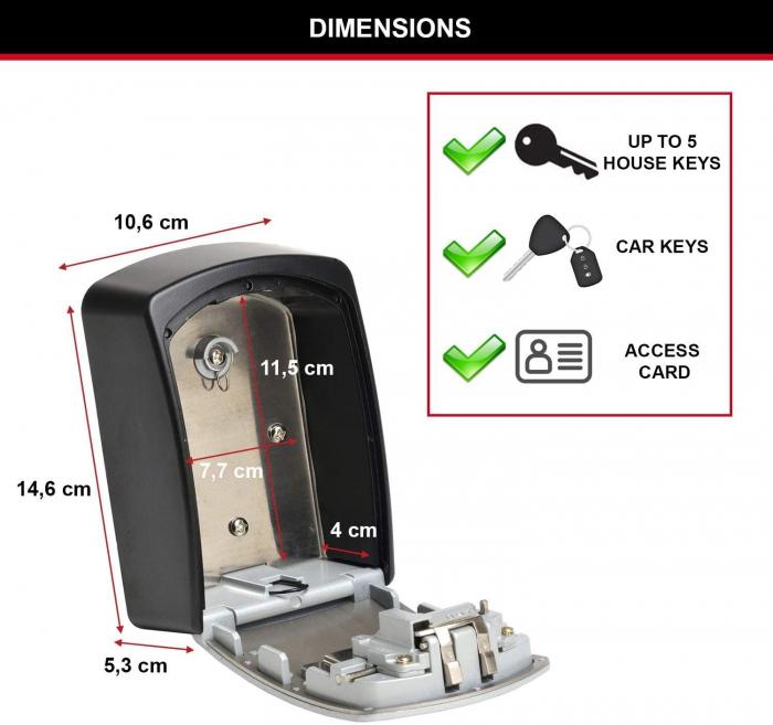 Cutie pentru chei 5403 EURD XL inchidere cifru [6]