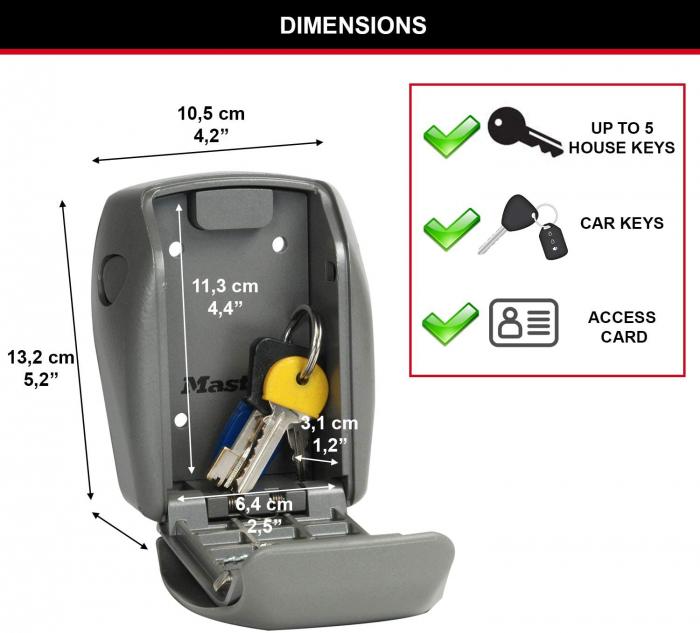 Cutie pentru chei 5415 EURD inchidere cifru [5]