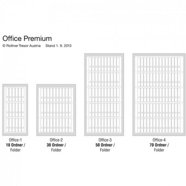Dulap acte antifoc Office 4 Premium inchidere cheie 6