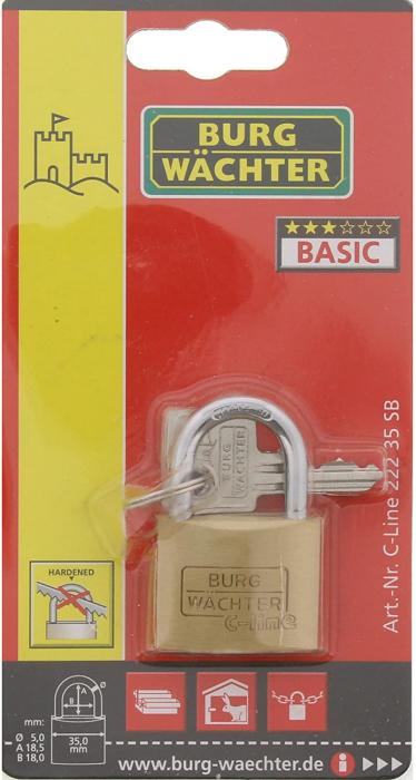 Lacat alama C-Line 222 C 35 SB inchidere cheie [6]