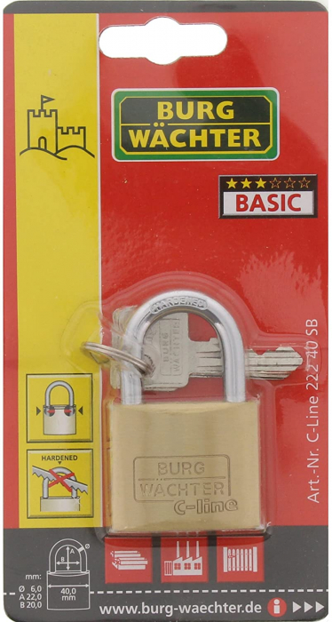 Lacat alama C-Line 222 C 40 SB inchidere cheie [6]