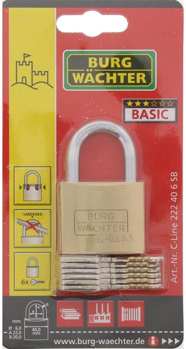 Lacat alama C-Line 222 C 40 6 SB inchidere cheie [6]