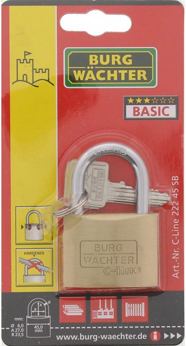 Lacat alama C-Line 222 C 45 SB inchidere cheie [6]