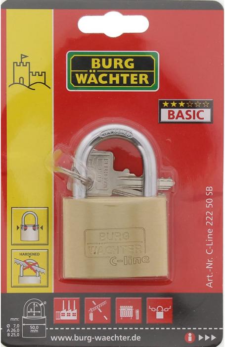 Lacat alama C-Line 222 C 50 SB inchidere cheie [6]