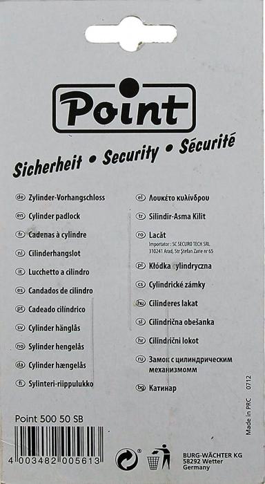 Lacat Point 500 50 SB inchidere cheie [5]