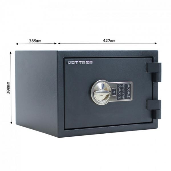 Seif certificat antiefractie antifoc Fire Hero 30 inchidere electronica 4