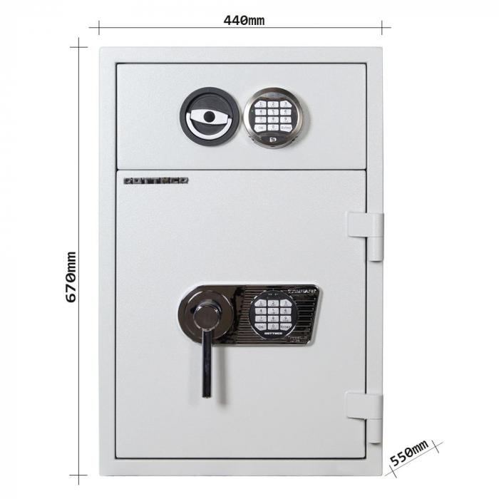 Seif certificat antiefractie cu sertar de alimentare RSR 1/65 inchidere electronica [4]