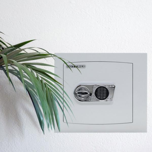 Seif certificat antiefractie incastrabil in perete Delta 40 inchidere electronica 4